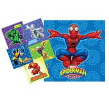 STICKERS MOTIVATOR (MEDIBADGE) SPIDERMAN & FRIENDS X 90