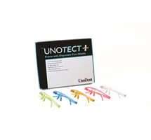 FACE SHIELD UNOTECT+ (UNODENT) WHITE FRAME 12 DISPOSABLE SHIELDS AUTOCLAVABLE